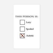 Lazy, spoiled or autistic Decal