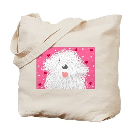 Heart Sheepdog Tote Bag