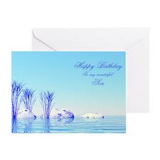 Son, a peaceful water birthday cardon Greeting Car