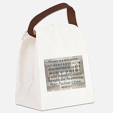 Isaiah 9:6 Canvas Lunch Bag