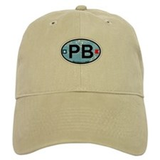 Palm Beach - Oval Design. Baseball Cap