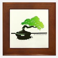 the leaning bonsai  Framed Tile