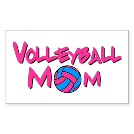 Volleyball Mom Rectangle Sticker