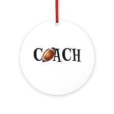 Football Coach Ornament (Round)