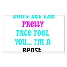 Pretty Face Bumper Stickers
