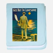 Gee But I'm Lonesome baby blanket