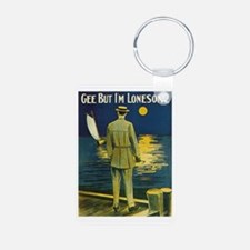 Gee But I'm Lonesome Aluminum Photo Keychain