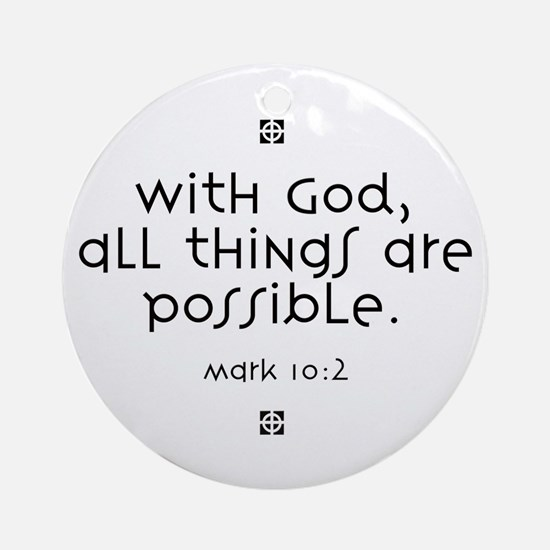 With God Ornament (Round)