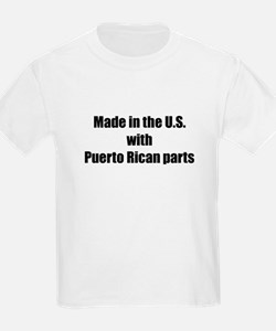 Made in the U.S. with Puerto Rican Parts Kids T-Sh