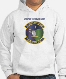 7th Space Warning Squadron with text Hoodie