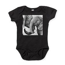 Young African Elephants Baby Bodysuit
