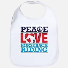 Peace Love and Horseback Riding Bib