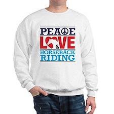 Peace Love and Horseback Riding Jumper