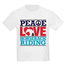 Peace Love and Horseback Riding T-Shirt