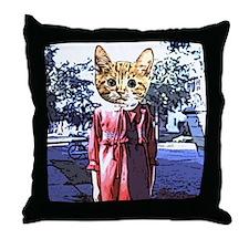 Purrrfect Art Throw Pillow
