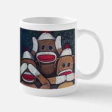 See No Evil Sock Monkeys Mugs