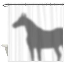 Horse Shadow Shower Curtain