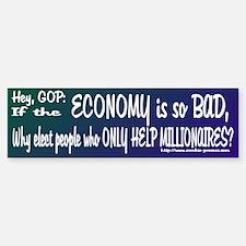 Helping the Millionaires? Bumper Bumper Bumper Sticker