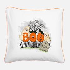 BOO Square Canvas Pillow
