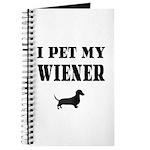 I Pet My Wiener dachshund Journal