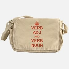 CUSTOM TEXT Keep Calm Messenger Bag