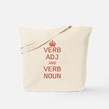 CUSTOM TEXT Keep Calm Tote Bag