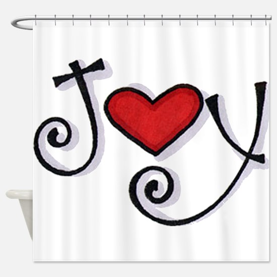 Joy.jpg Shower Curtain