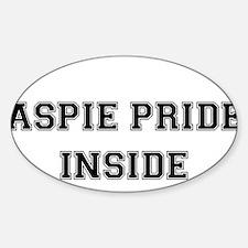 Aspie Pride Inside Rectangle Decal