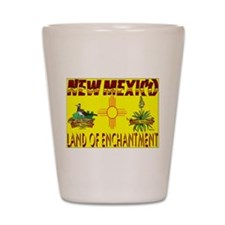 new mexico.jpg Shot Glass