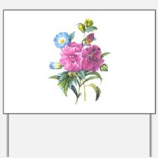 Redoute Bouquet Yard Sign