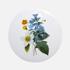 Redoute Bouquet Ornament (Round)