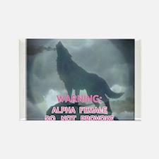 alpha werewolf Rectangle Magnet