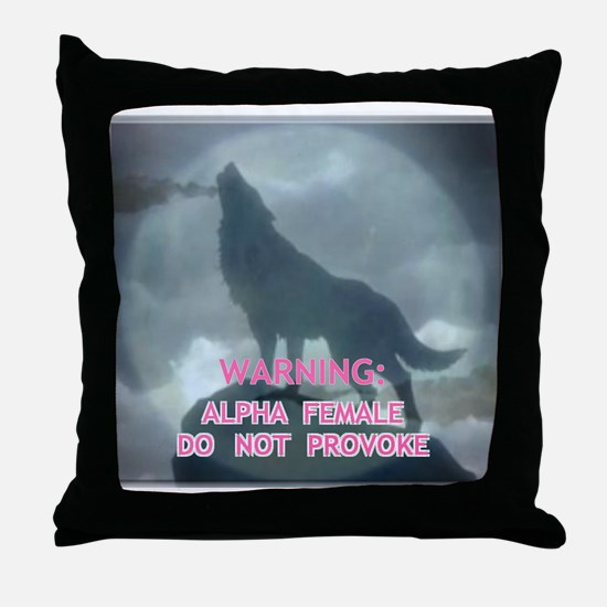 alpha werewolf Throw Pillow