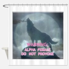 alpha werewolf Shower Curtain