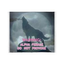 alpha werewolf Throw Blanket