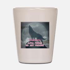 alpha werewolf Shot Glass