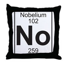 Element 102 - No (nobelium) - Full Throw Pillow