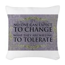Change Woven Throw Pillow