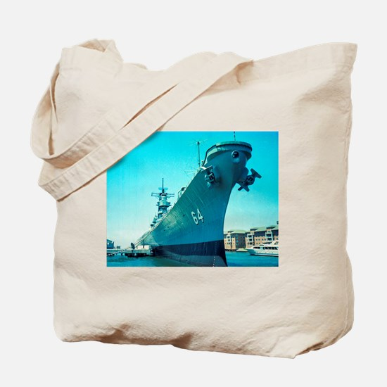 USS Wisconsin Tote Bag