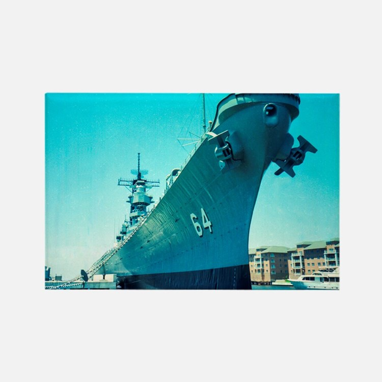 USS Wisconsin Rectangle Magnet