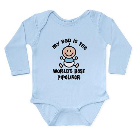 Best Pipeliner Dad Long Sleeve Infant Bodysuit