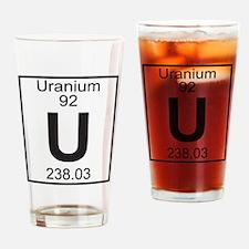 Element 92 - U (Uranium) - Full Drinking Glass