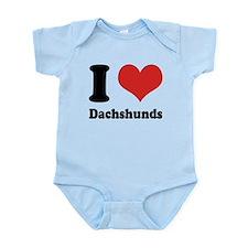 I Heart Dachshunds Infant Bodysuit