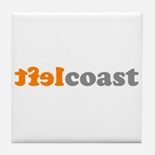 LEFTCOASTTXT Tile Coaster