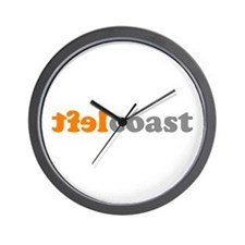 LEFTCOASTTXT Wall Clock