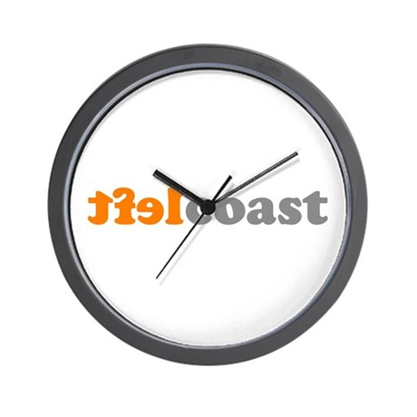 LEFTCOASTTXT Wall Clock