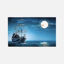 Pirate Ship 3'x5' Area Rug
