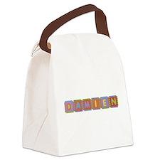 Damien Foam Squares Canvas Lunch Bag
