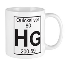 Element 80 - Hg (quicksilver) - Full Small Mugs
