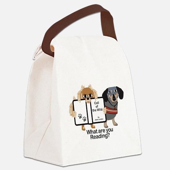 Dog Best Friends Canvas Lunch Bag